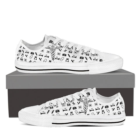 Women's Nurse Custom Designed Canvas Low Top Shoes
