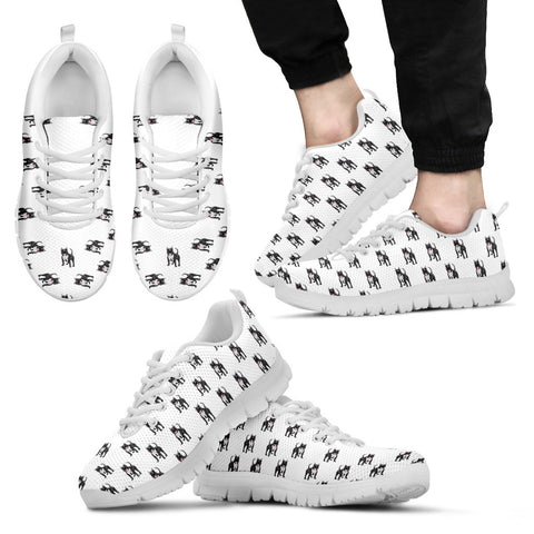 Mens Pitbull Custom Designer Sneakers In White
