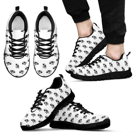 Mens Pitbull Custom Designer Sneakers In Black