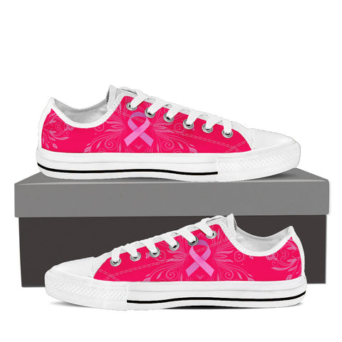 Men's Breast Cancer Awareness Custom Designed Low Top Canvas Shoes