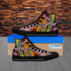Mens Guitar High Top Canvas Shoes In Black