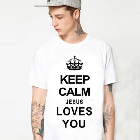 T-shirt Keep Calm And Jesus Loves