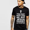 Christian Cotton Black Men's T-shirt - Wrapped Direct