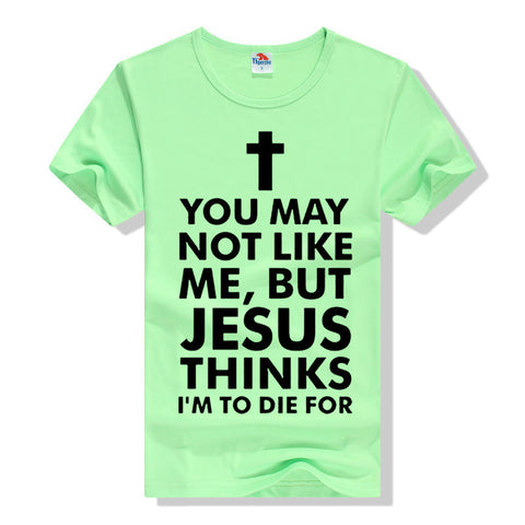 Christian Cotton Black Men's T-shirt