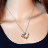 Silver Plated Heart Mom Pendant - Wrapped Direct