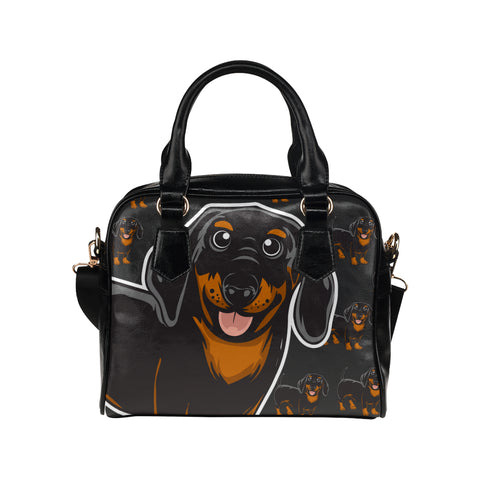 CUSTOM PRINTED Dachshund Shoulder Handbag