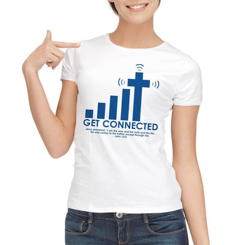 Get Connected To Jesus T Shirt - Wrapped Direct