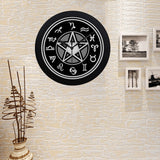 Image of Limited Edition 'Witching Hour' Pentacle Quartz Clock (Black)
