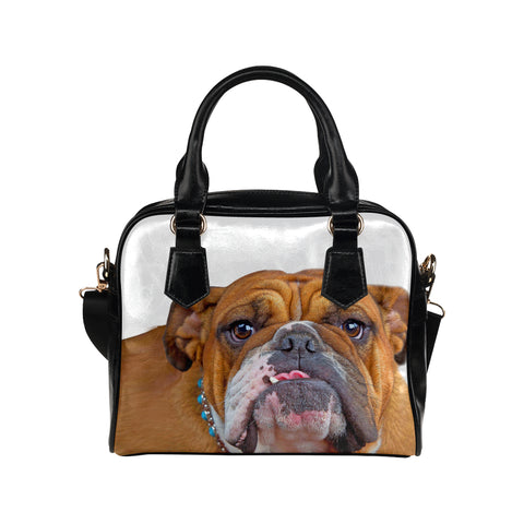 CUSTOM PRINTED Bulldog Shoulder Handbag