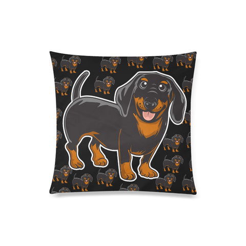 Custom Printed Dachshund Throw Pillow Cover
