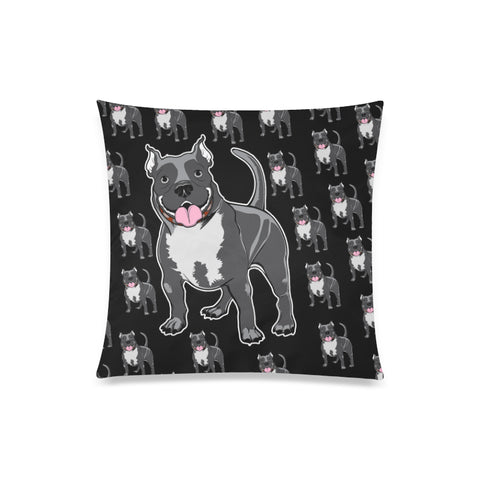 Custom Printed Pitbull Throw Pillow Cover