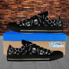 Mens Low Top Science Canvas Sneakers In Black