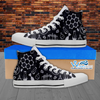 Mens High Top Science Canvas Sneakers In White