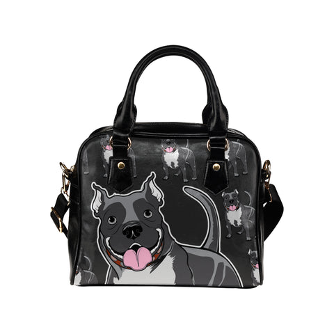 CUSTOM PRINTED Pitbull Shoulder Handbag