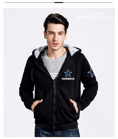 Custom-Made Dallas Cowboys Luxury Zipped Hoodie - Wrapped Direct