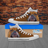 Mens 3D Bulldog Canvas Shoes