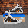 Dachshund Lover - Women's Hi Top White Canvas Shoes