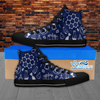 Womens High Top Science Canvas Sneakers In Navy/Black