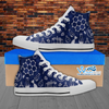Mens High Top Science Canvas Sneakers In Navy/White