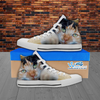 Tabby Cat Lover Hi-Top Canvas Women's Shoes