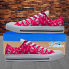 Womens Low Top Science Canvas Sneakers In Pink/White
