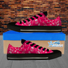 Womens Low Top Science Canvas Sneakers In Pink/Black