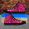 Womens High Top Science Canvas Sneakers In Pink/Black