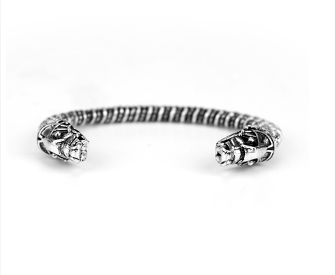 Viking Fenrir - Silver-Plated Wolf Bracelet - Wrapped Direct