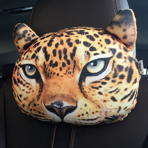 3D Printed Cat Face Car Headrest Pillows - Wrapped Direct
