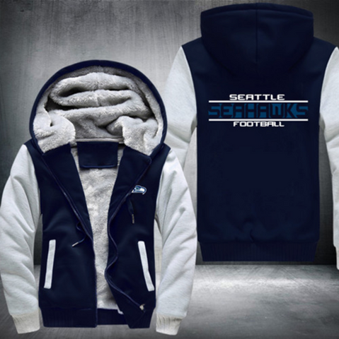 Custom-Made Seattle Seahawks Luxury Zipped Jacket