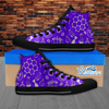 Womens High Top Science Canvas Sneakers In Purple/Black