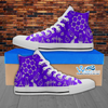 Womens High Top Science Canvas Sneakers In Purple/White