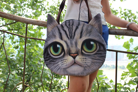 New Style Ladies Cat-Face Tote Shoulder Bag