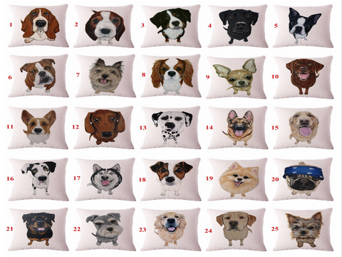 Cute Pet Dog Pattern Cushion Covers - Wrapped Direct