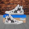 Pitbull Lover - Men's Hi Top White Canvas Shoes