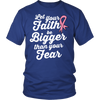 Ladies 'Let Your Faith Be Bigger' Breast Cancer Awareness Shirt