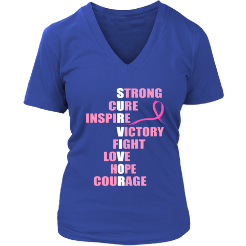 Ladies 'Survivor' Breast Cancer Awareness Shirt