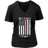 Ladies 'Live, Love, Fight' Breast Cancer Awareness Shirt