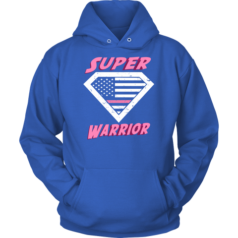 Ladies 'Super Warrior' Breast Cancer Awareness Shirt
