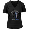 'Real Warriors Bleed Blue' Custom Printed Shirt
