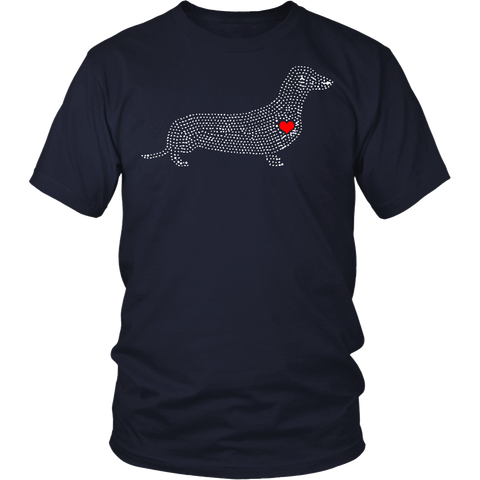 """Dachshund Love"" Custom Printed Shirt"