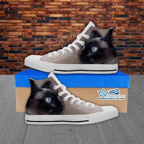 Siamese Cat Lover Hi-Top Canvas Women's Shoes