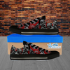 Zombie Lover - Custom Printed Women's Low Top Black Canvas Shoes