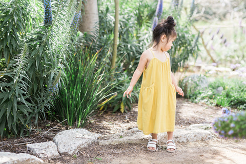 Edie Mustard Yellow Garden Dress