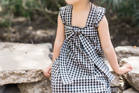 Vivian Gingham Bow Dress