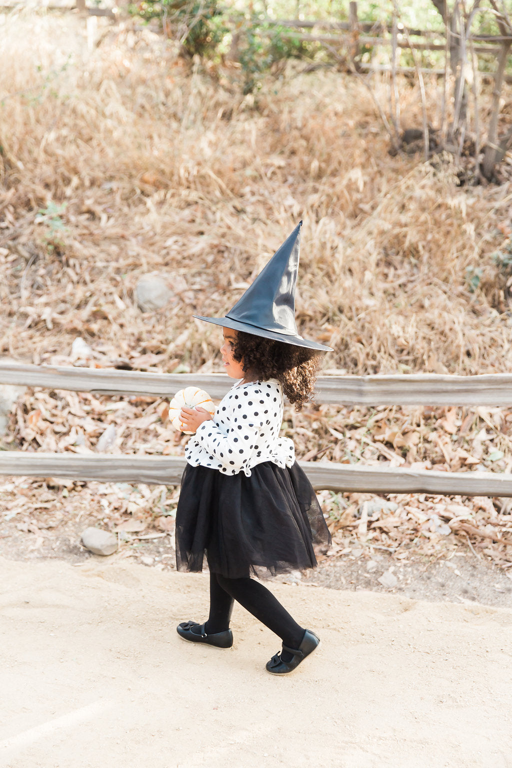 Little Witch Halloween Costume for Girl Side Profile