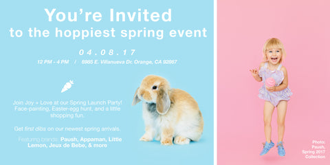 Hop into Spring! Joy + Love's Spring Launch Party.