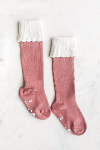 Julia Pink Knee High Socks
