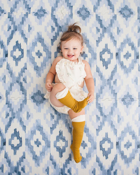 Julia Mustard Yellow Knee High Socks