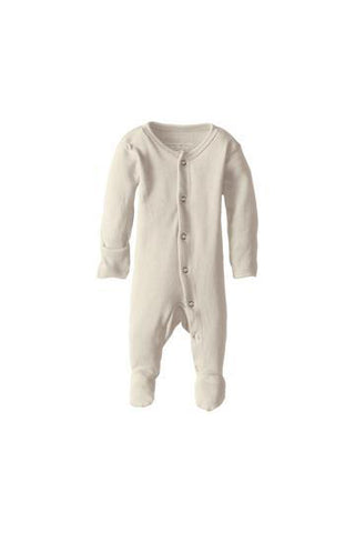 Erwin Beige Organic Footed Overall by L'ovedbaby